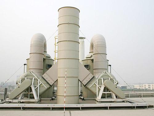 废气净化处理设备喷淋洗涤塔及工作设备流程